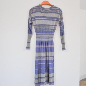 Rebecca Taylor knit striped midi dress